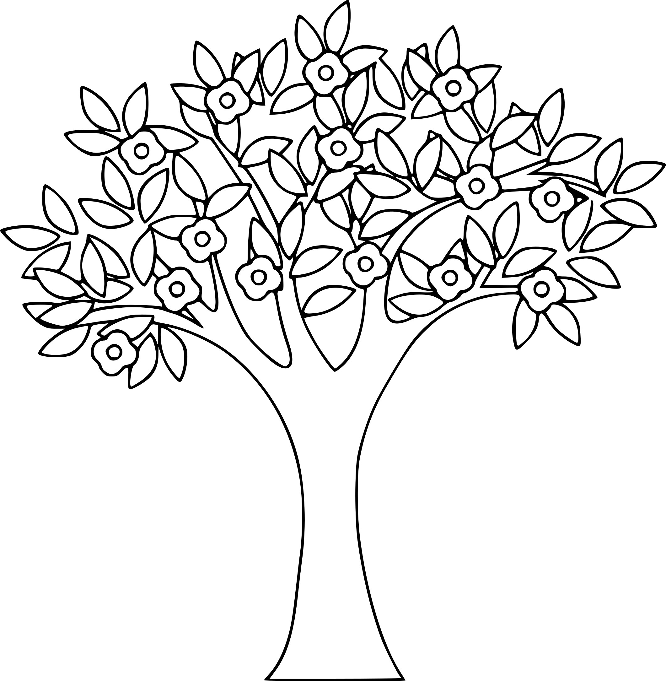 Coloriage arbre printemps imprimer sur coloriages info - Dessin arbre simple ...