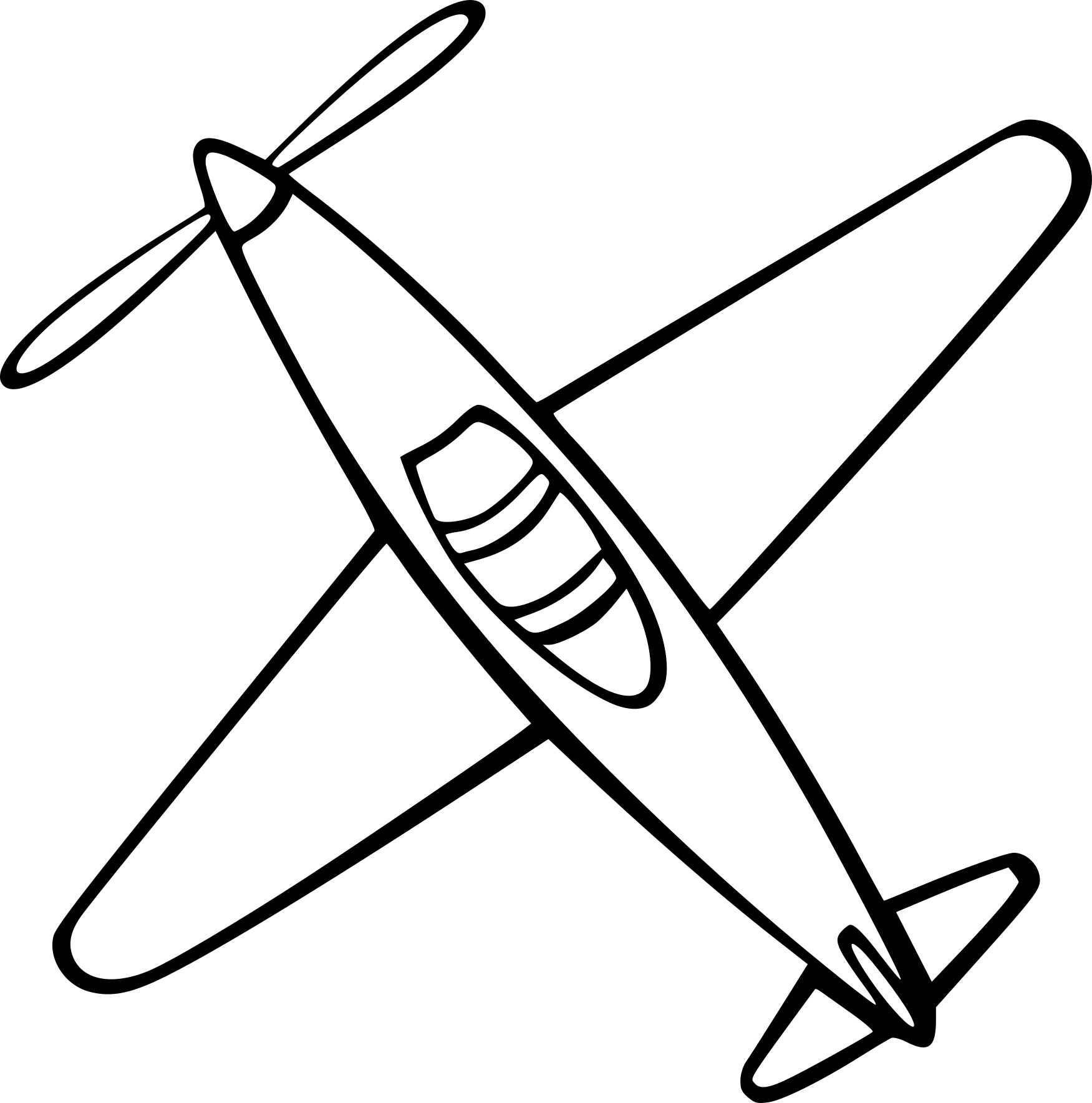 Coloriage avion facile imprimer sur coloriages info - Dessin d avion facile ...