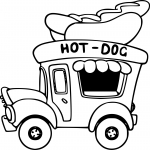 Coloriage Camion Hot-Dog