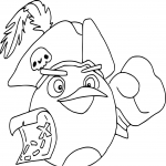 Angry Birds pirate dessin à colorier