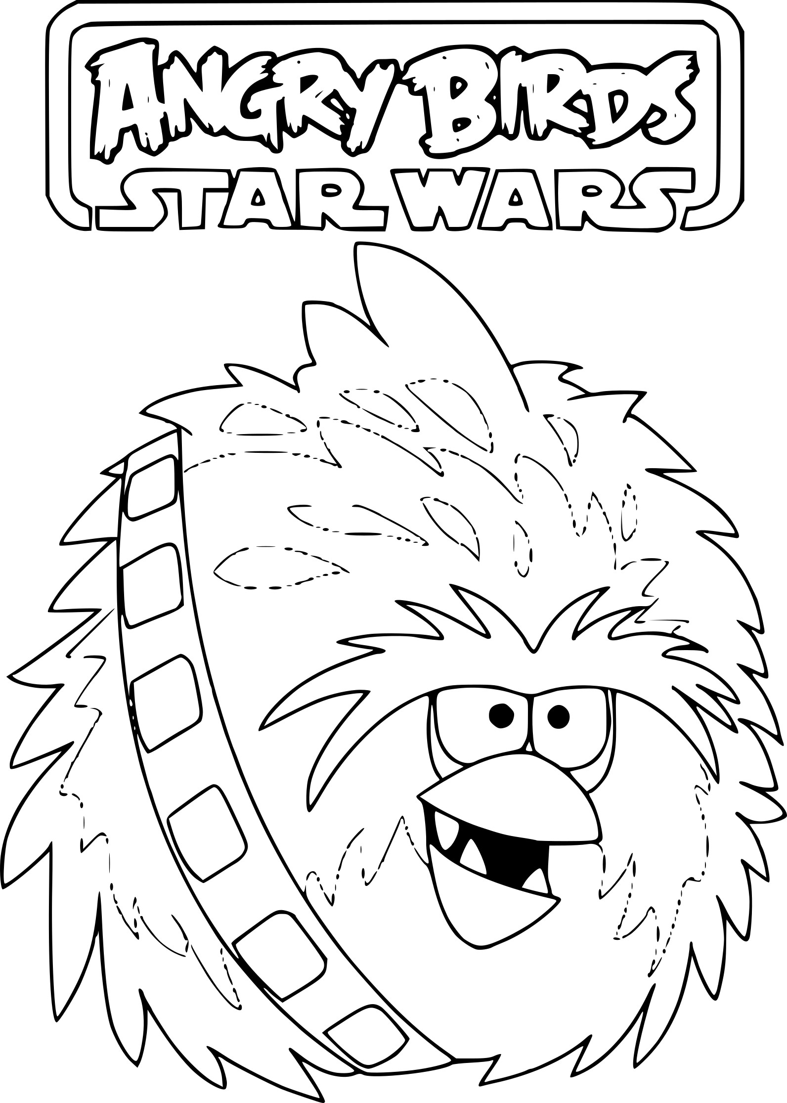 Coloriage angry birds star wars imprimer sur coloriages - Dessin de angry birds star wars ...