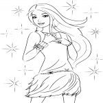 Coloriage Barbie la star