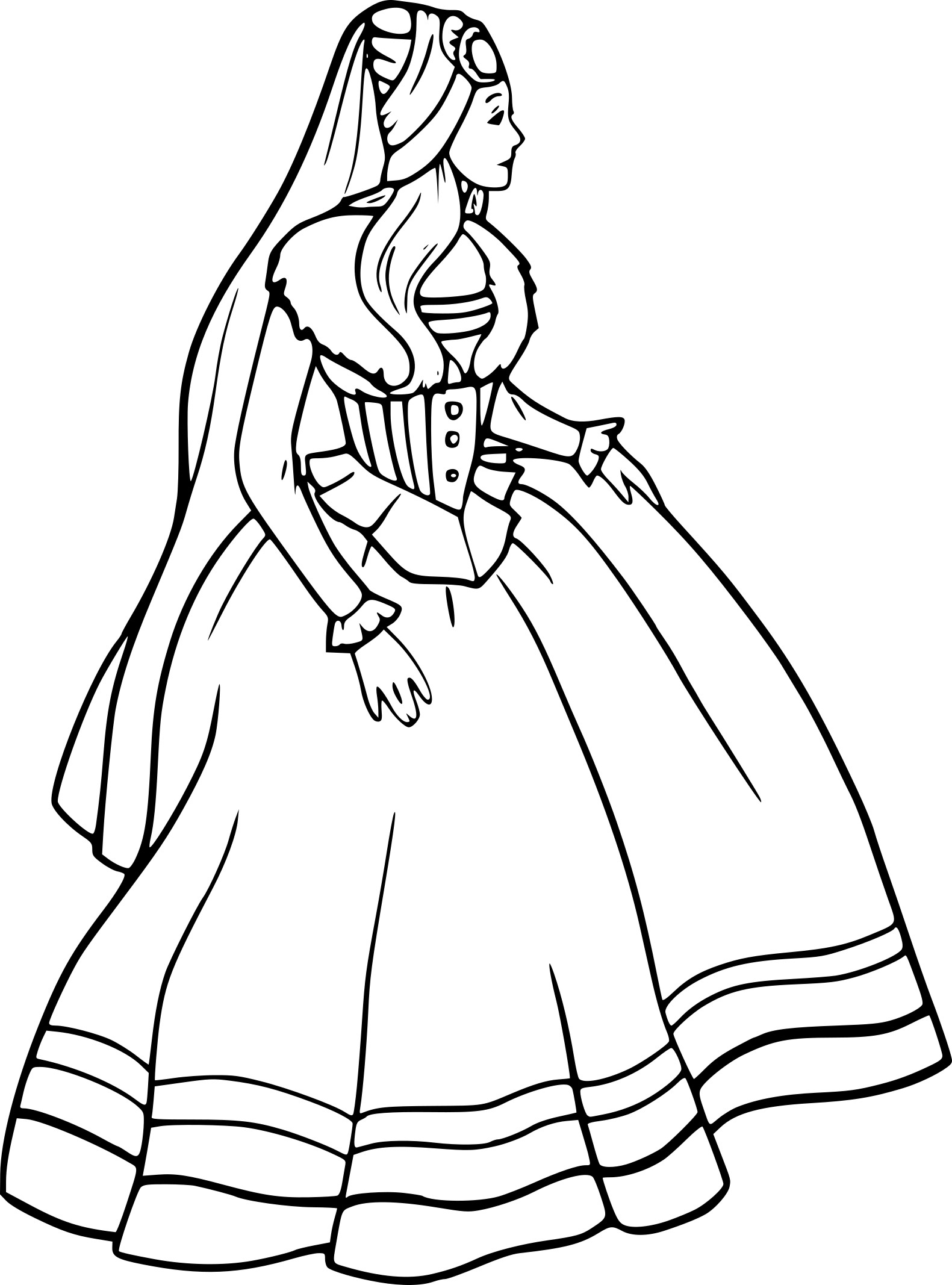 Coloriage barbie princesse dessin imprimer sur - Barbie princesse coloriage ...