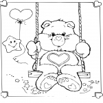 Coloriage Bisounours coeur