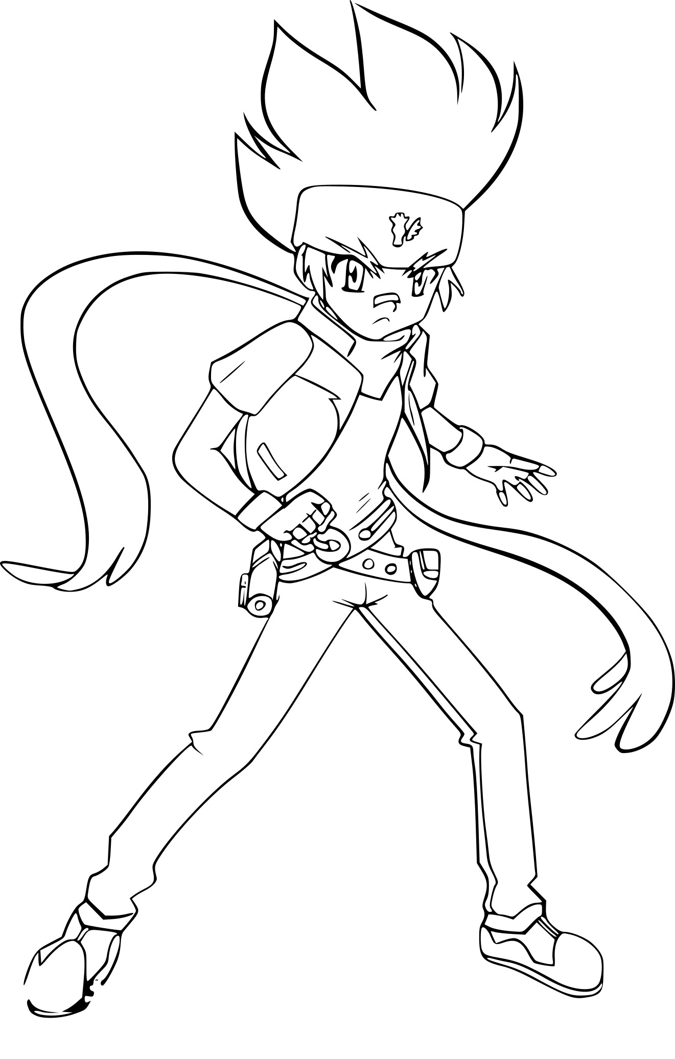 Coloriage beyblade ginga imprimer sur coloriages info - Coloriage toupie beyblade ...