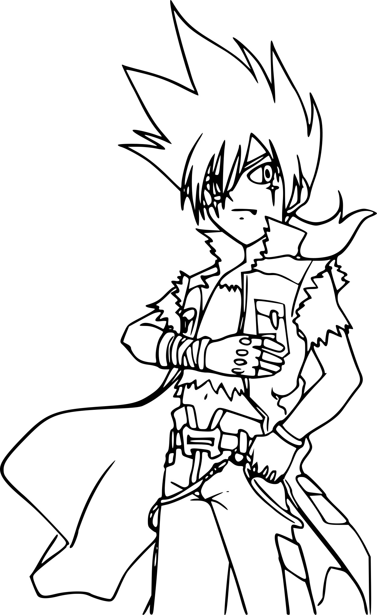 Coloriage beyblade kyoya imprimer sur coloriages info - Coloriage toupie beyblade ...