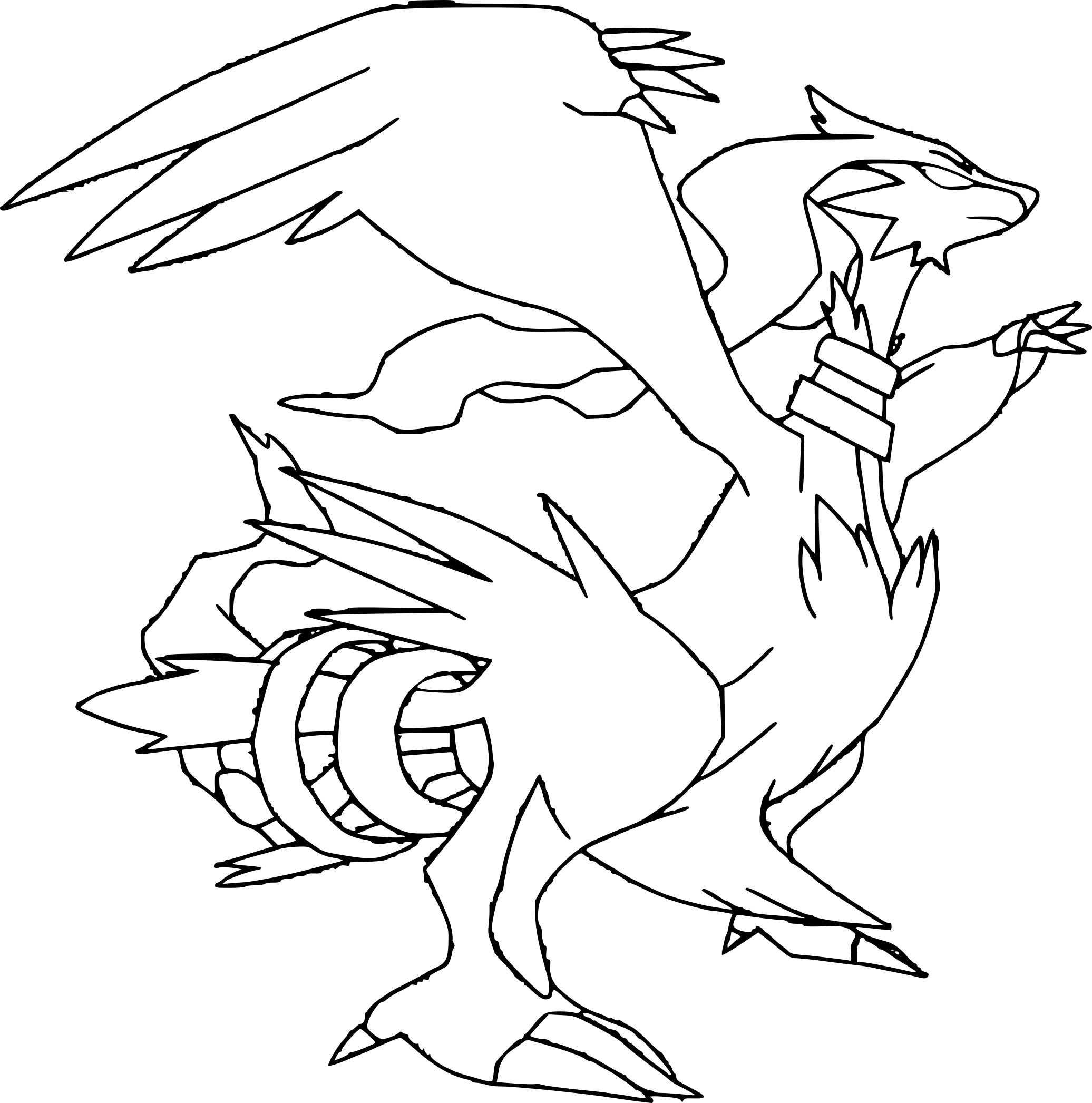 zekrom ex coloring pages | Pokemon Reshiram Coloring Pages Coloring Pages