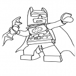 Coloriage Batman lego dessin