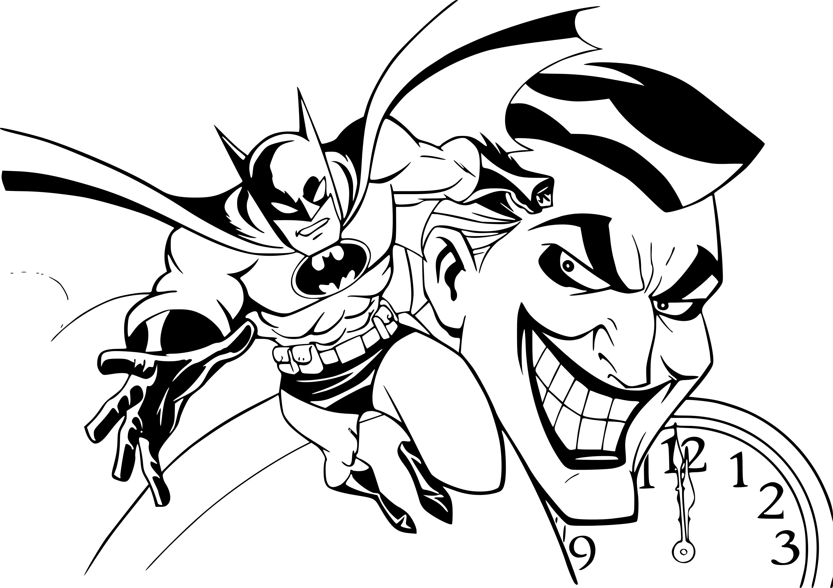 Coloriage batman joker imprimer sur coloriages info - Coloriage batman ...