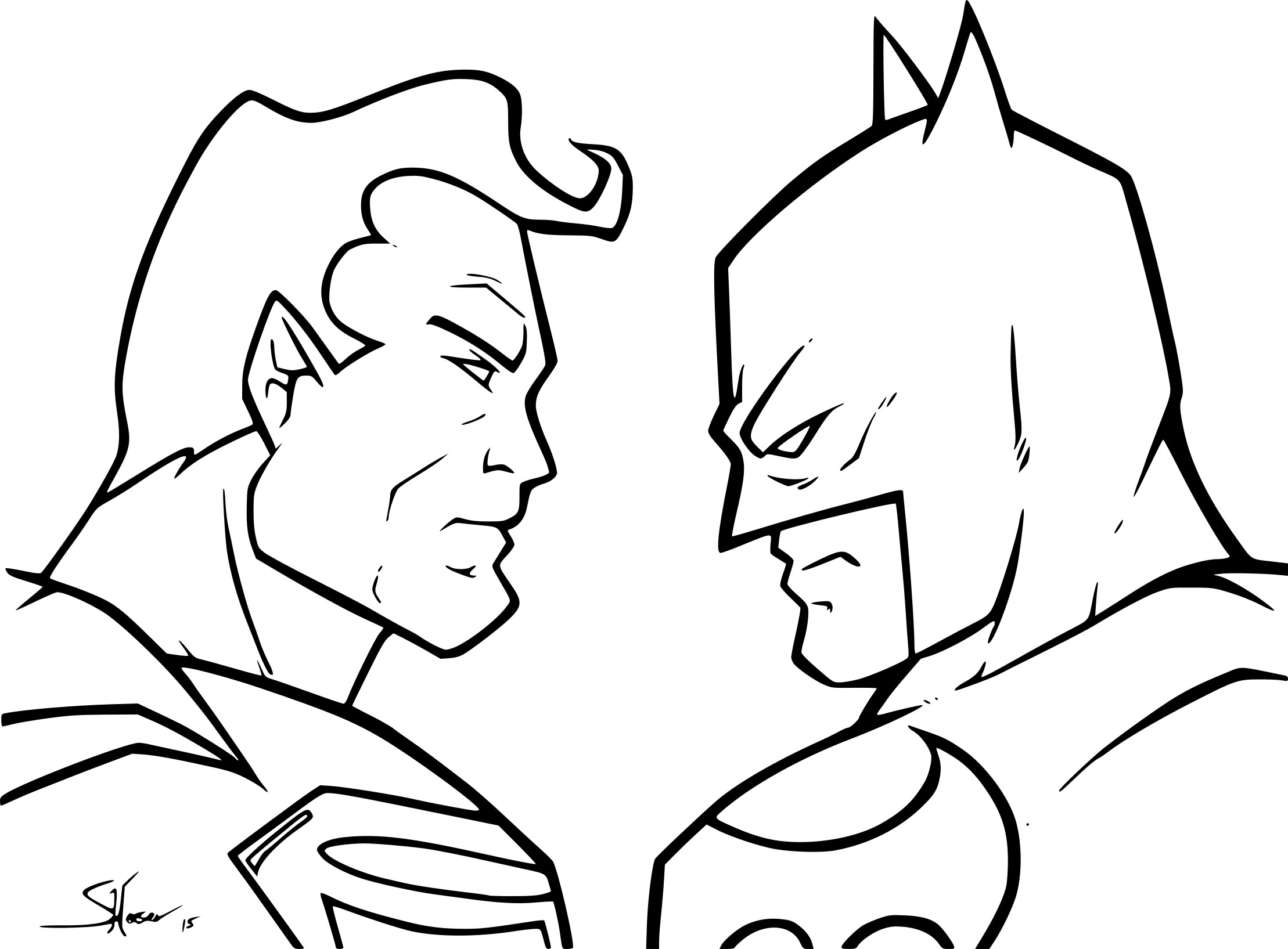 Coloriage batman vs superman imprimer sur coloriages info - Coloriage a imprimer batman ...