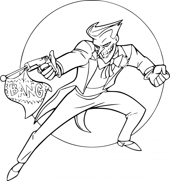 Coloriage joker batman imprimer sur coloriages info - Image batman a colorier ...