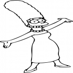 Coloriage Marge Simpson