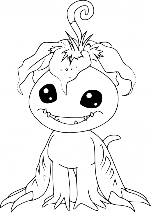 Coloriage Palmon Digimon à imprimer