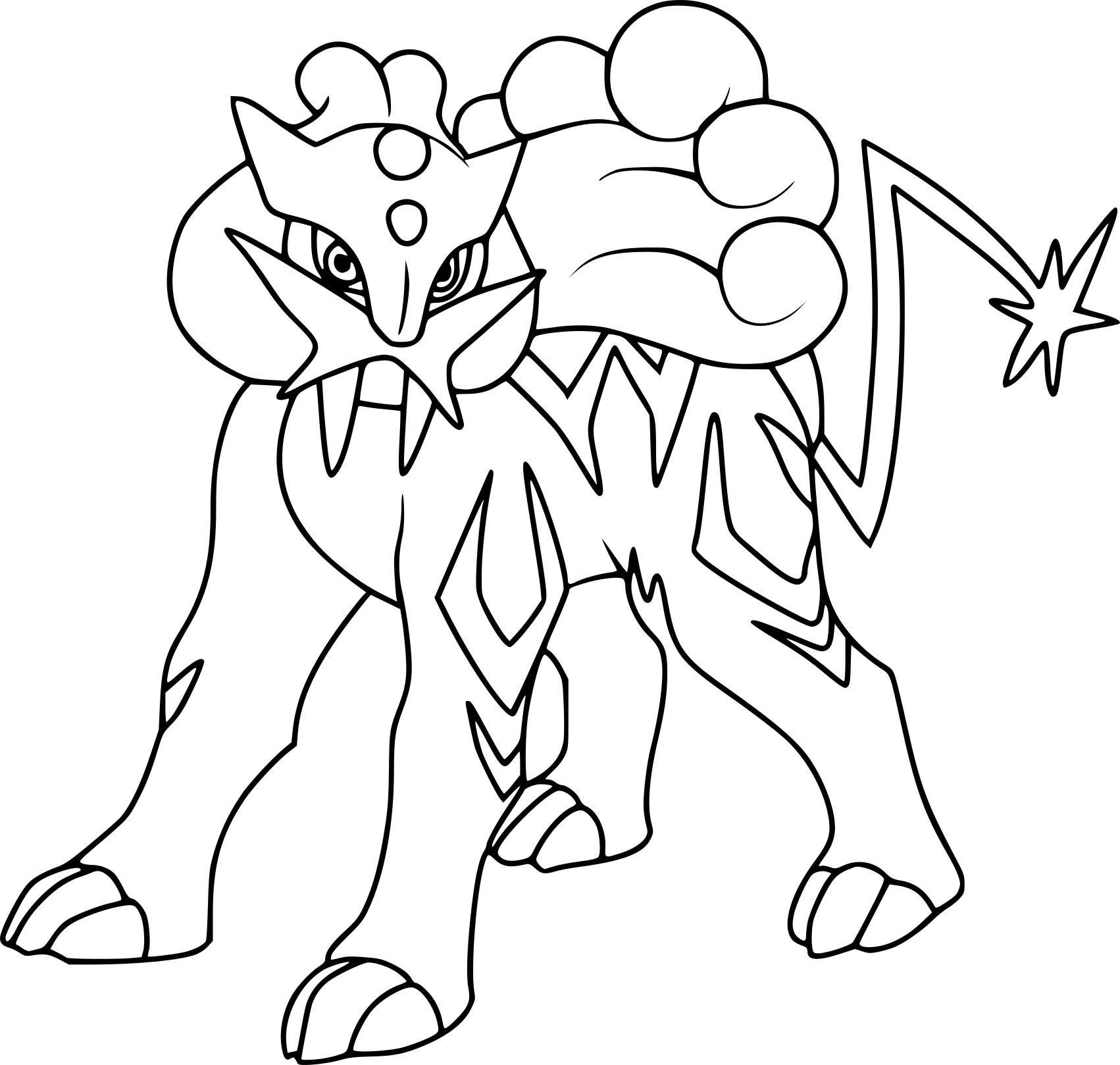 raikou coloring pages - photo#9