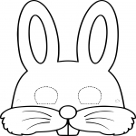 Coloriage Masque lapin