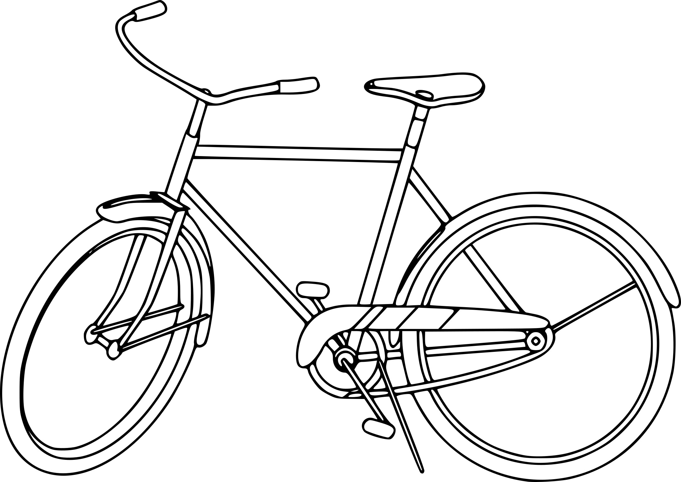 Coloriage velo my blog - Bicyclette dessin ...
