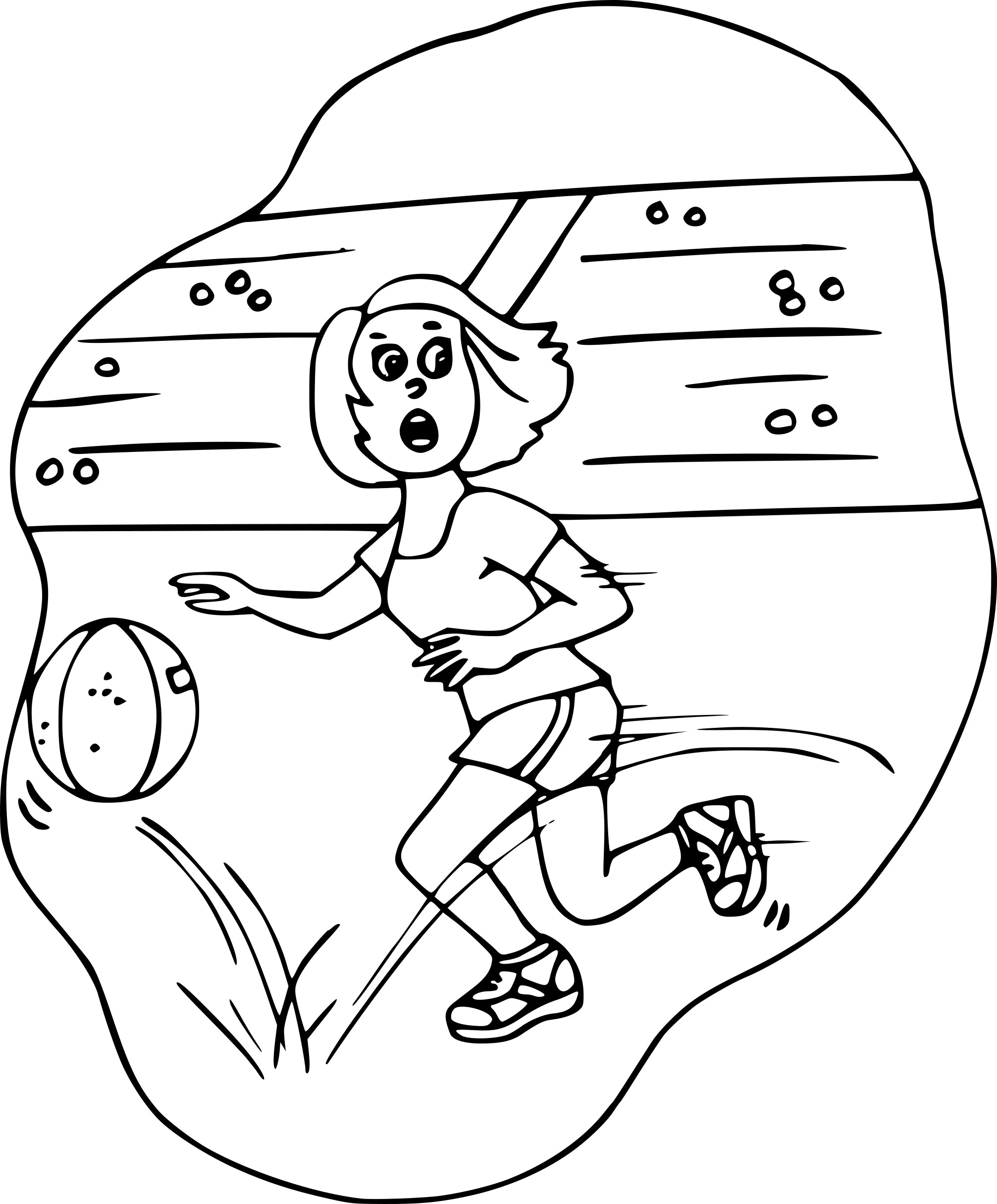 Coloriage Basket Fille.Coloriage Basketball Fille A Imprimer Sur Coloriages Info