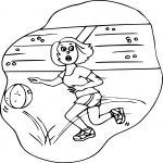 Coloriage Basketball fille