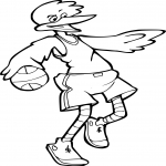 Coloriage Canard Basketball