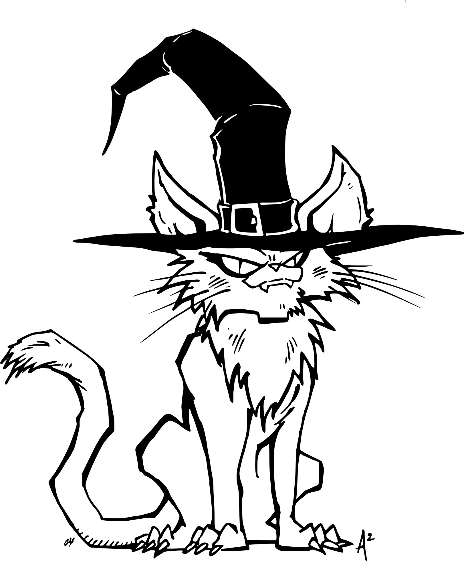 Coloriage chat halloween imprimer sur coloriages info - Dessin chat halloween ...