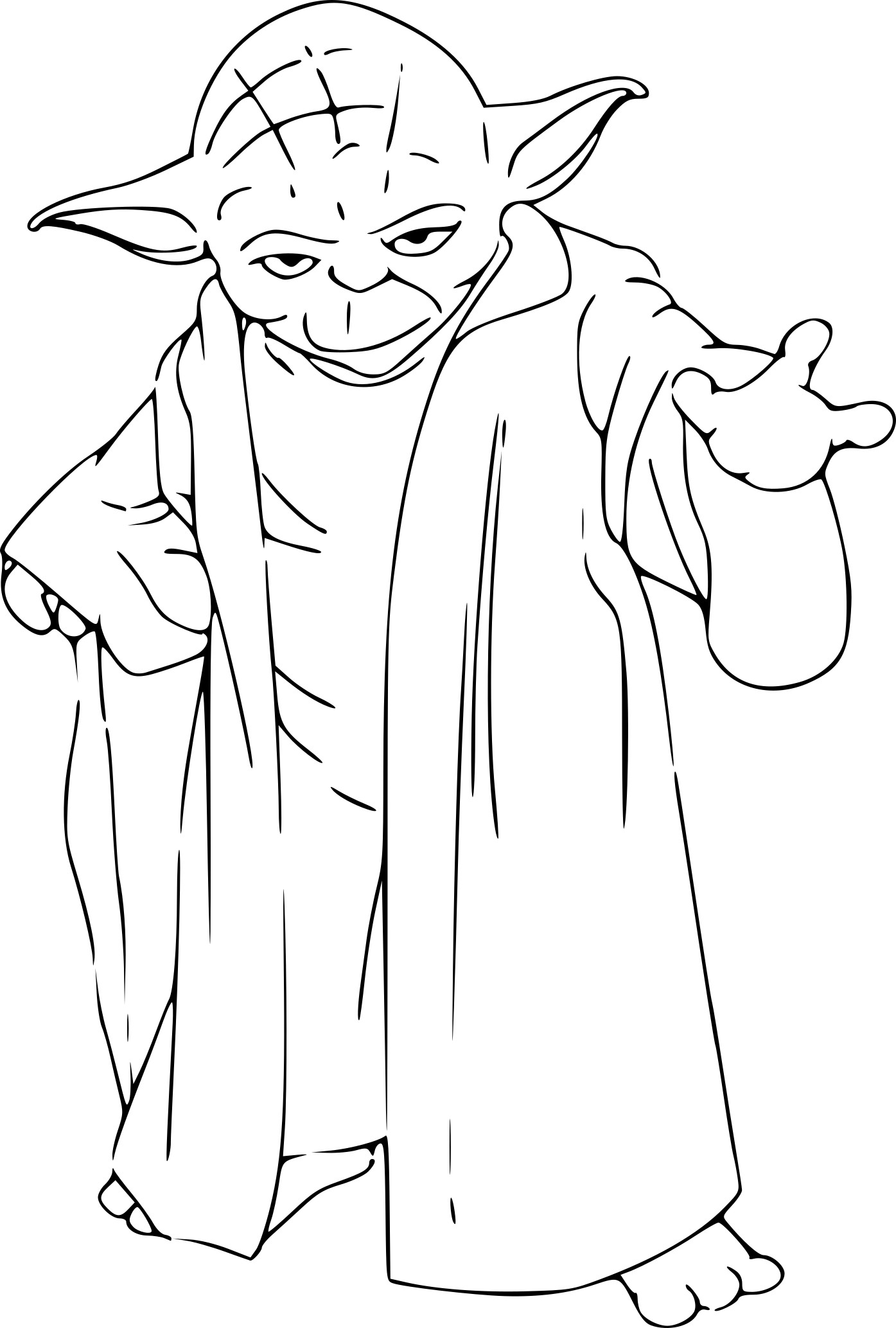 Maitre yoda coloriage my blog - Yoda coloriage ...
