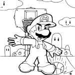 Coloriage Mario Basketball