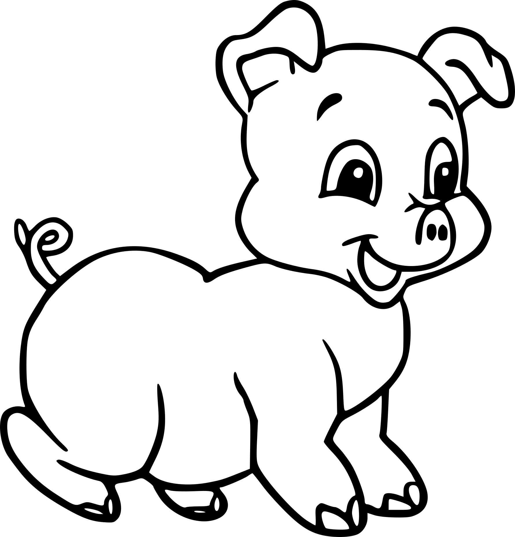 Bebe Cochon Dessin on animal coloring pages