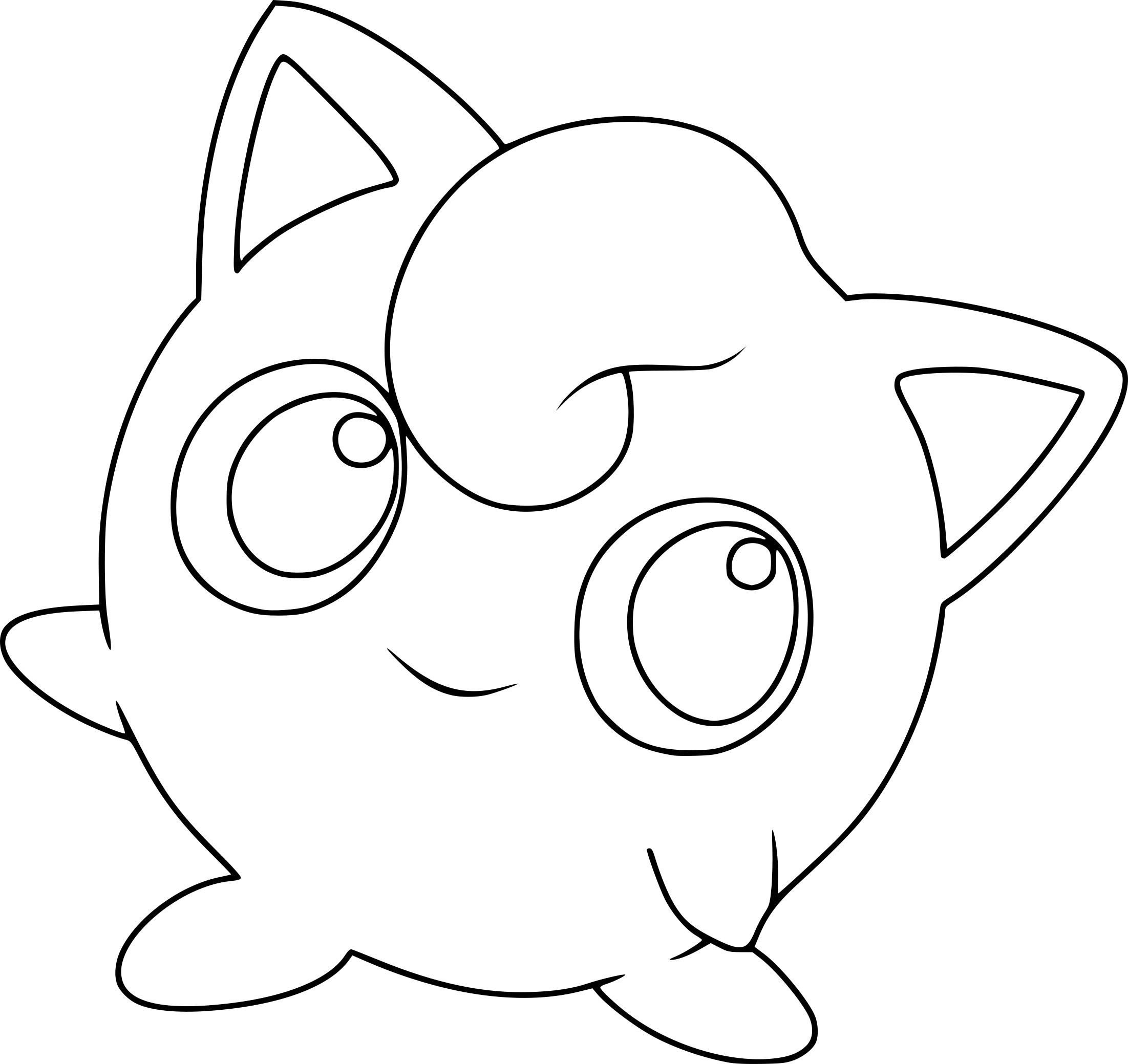 flabebe pokemon coloring pages - HD1909×1801