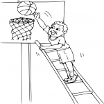 Coloriage Basket sport