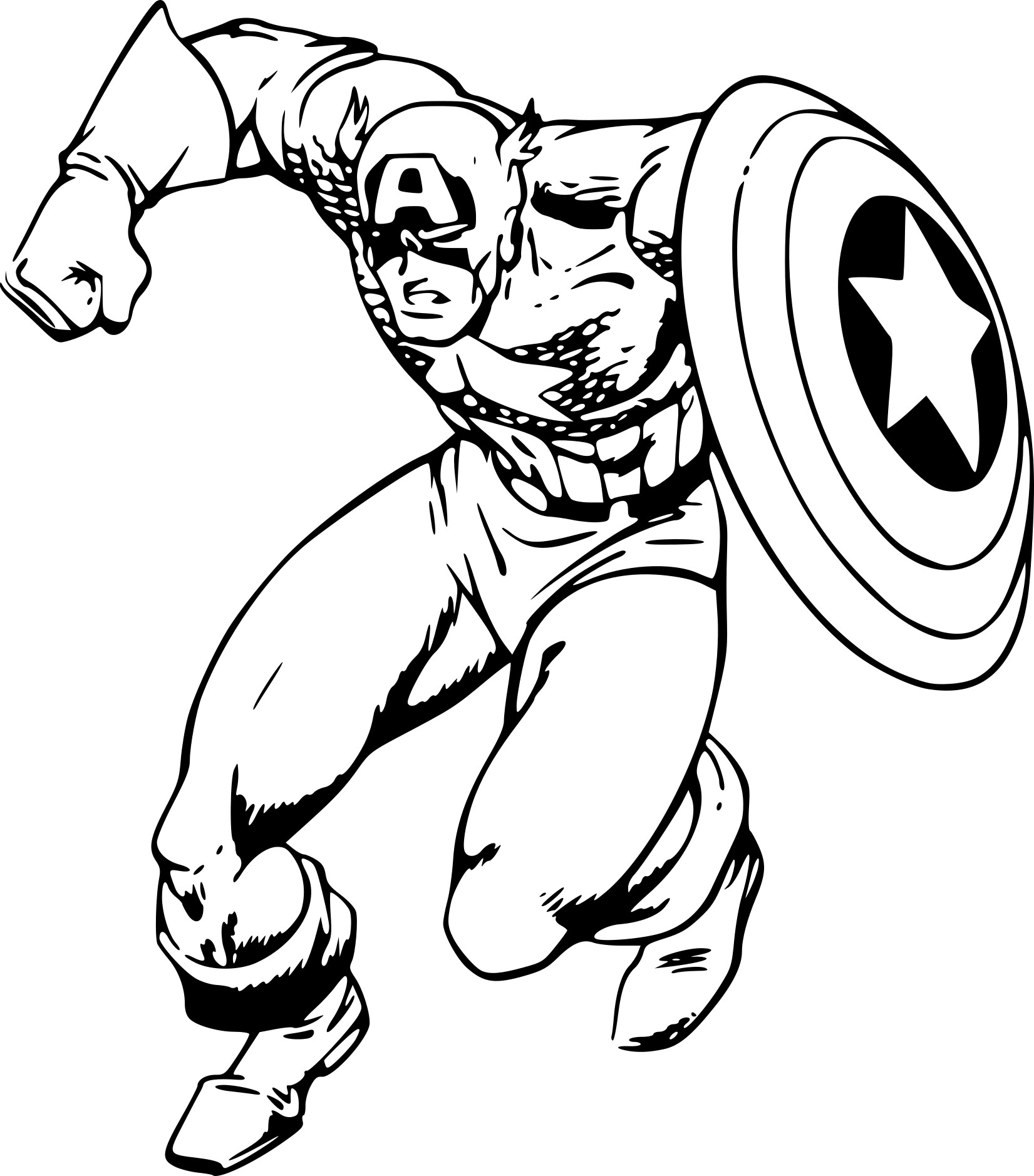 Coloriage Captain America Lego.Coloriages Captain America