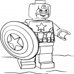 Coloriage Lego Captain America