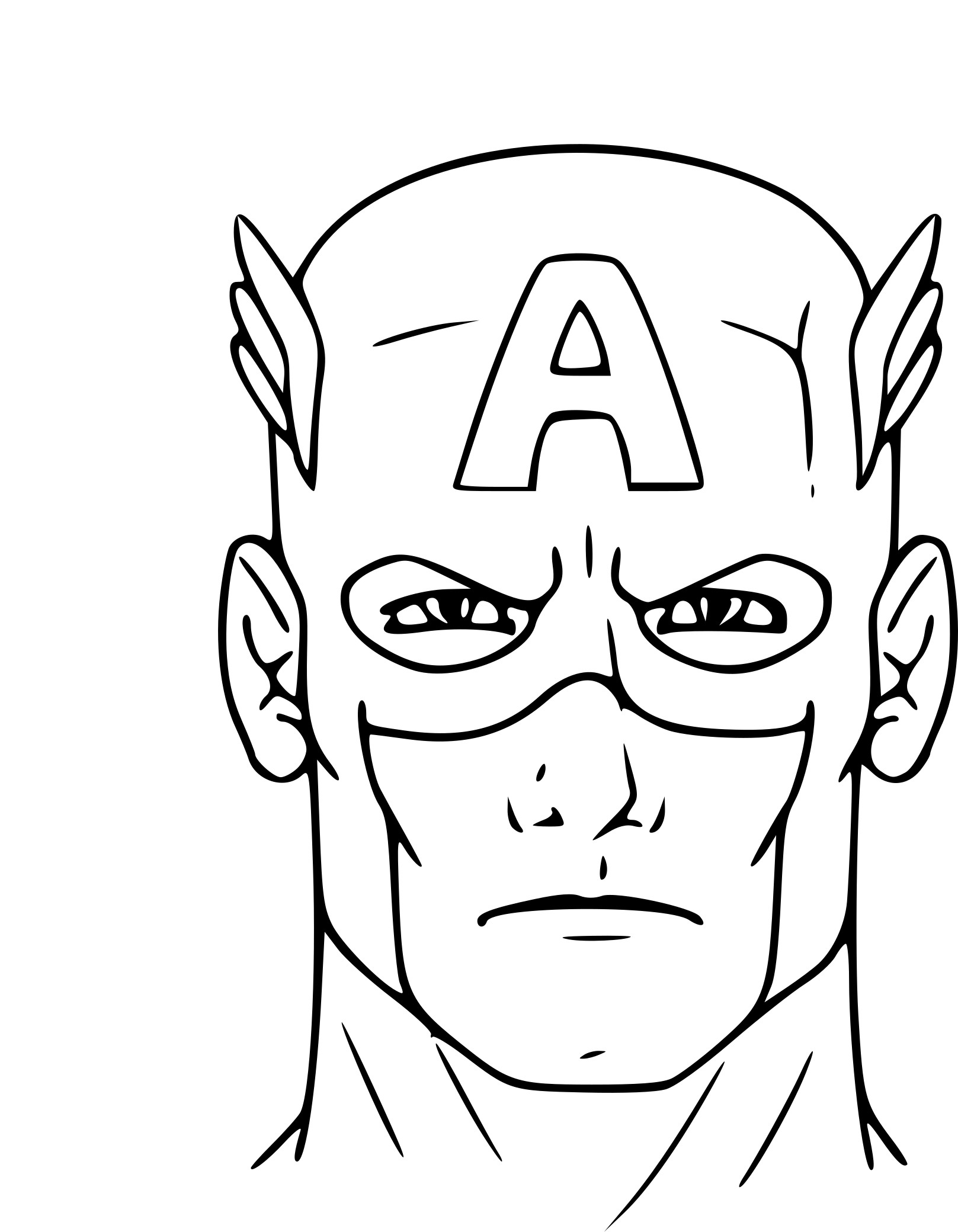 Free Printable Coloring Pages Of Captain America
