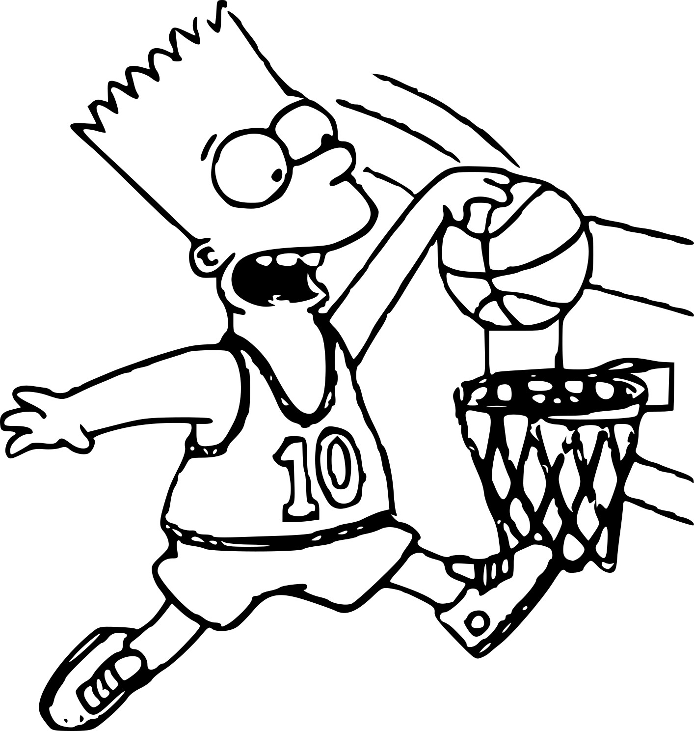 Coloriage simpson basket imprimer sur coloriages info - Simpson a colorier ...