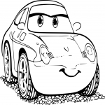 Coloriage Cars Sally