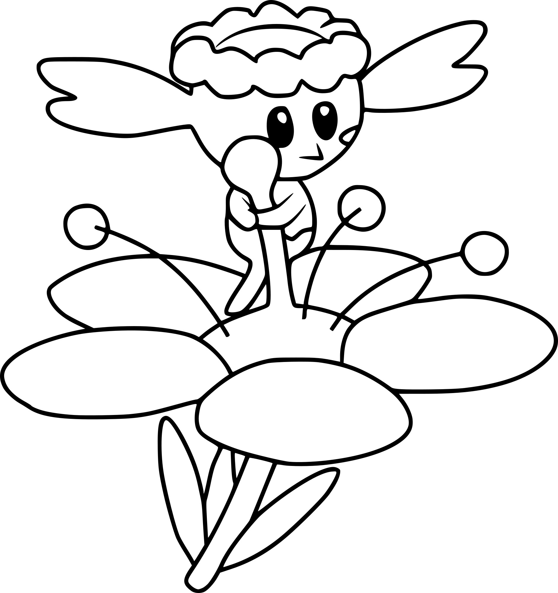 flabebe pokemon coloring pages - HD2078×2100