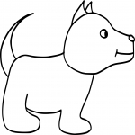 Coloriage Chien simple