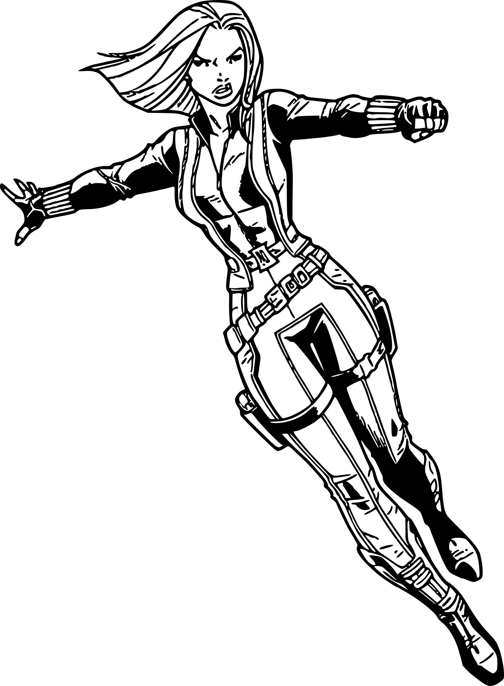 avengers coloring pages black widow - photo#16
