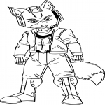 Star Fox dessin à colorier