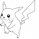 Coloriage Pikachu Super Smash bros