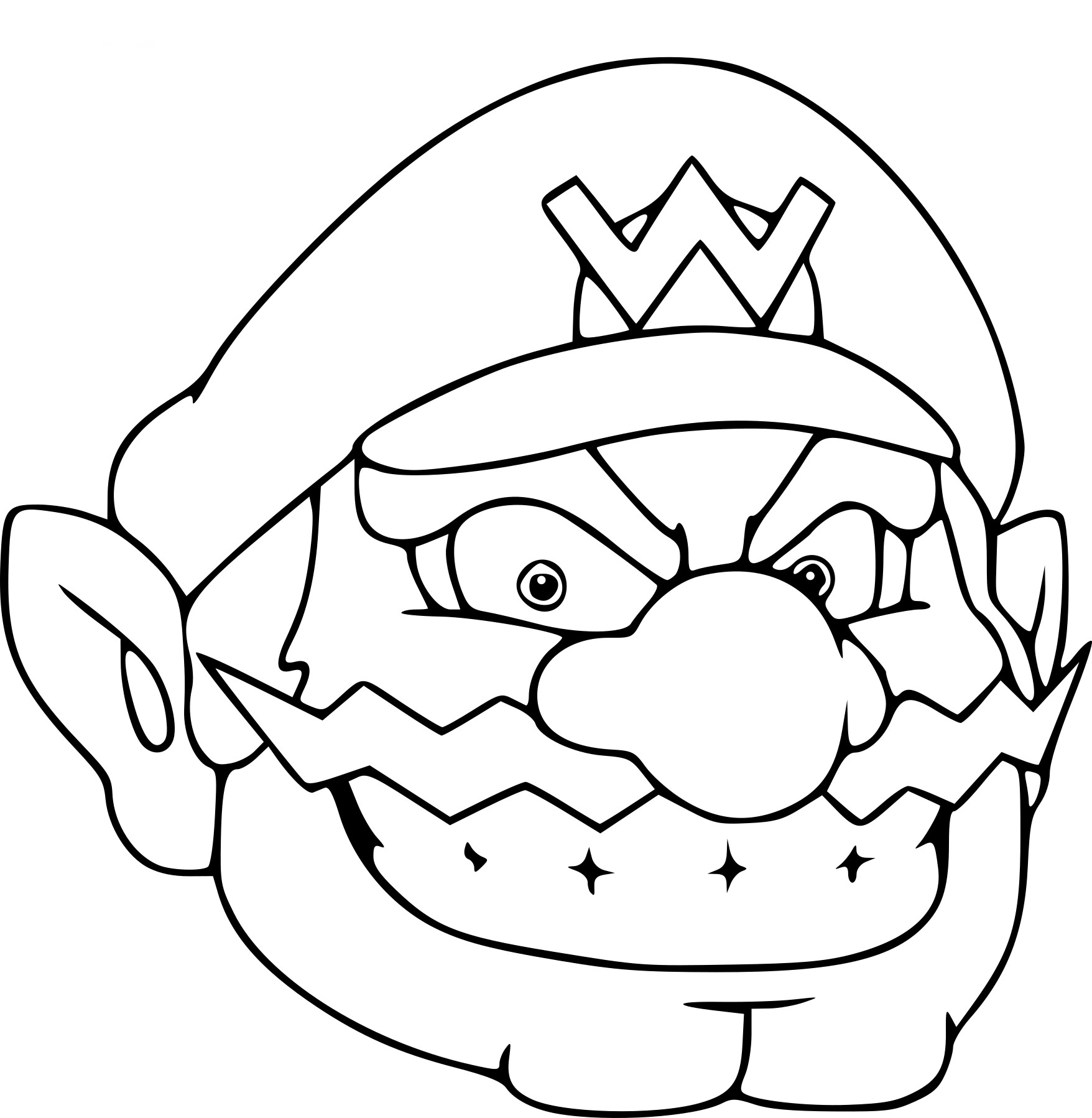 coloriage wario my blog. Black Bedroom Furniture Sets. Home Design Ideas