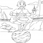 Coloriage Avatar Aang