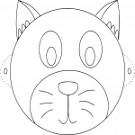 Coloriage Masque chat
