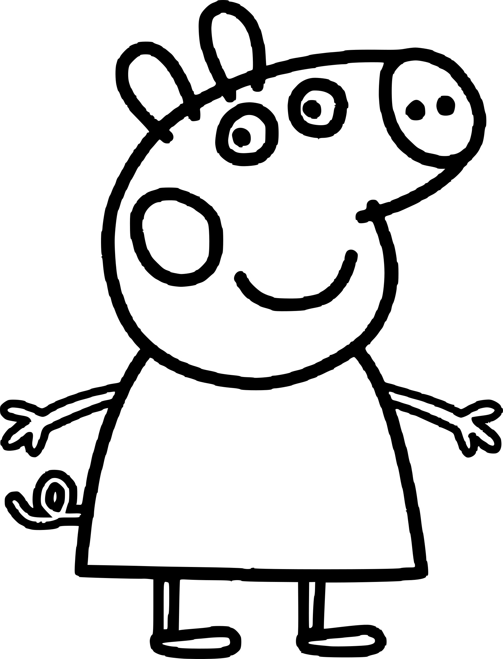 Frais Dessins A Colorier Peppa Pig