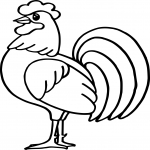 Coloriage Coq de France