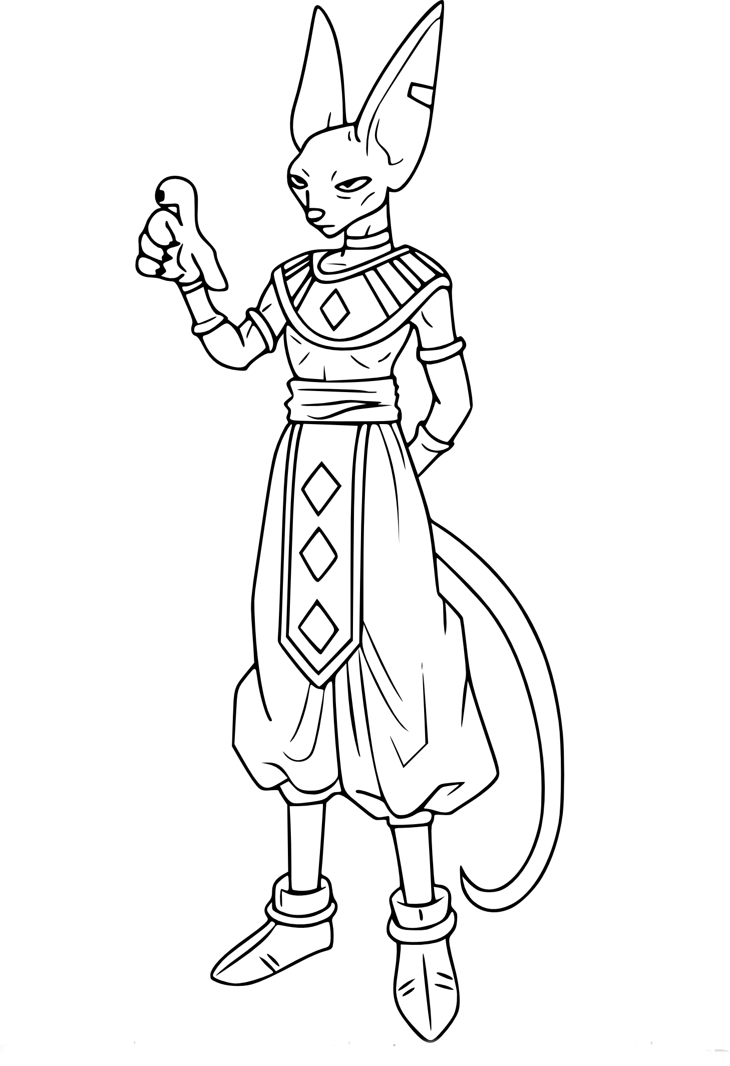 Coloriage dragon ball z beerus imprimer sur coloriages info - Dessin de dragon ball za imprimer ...