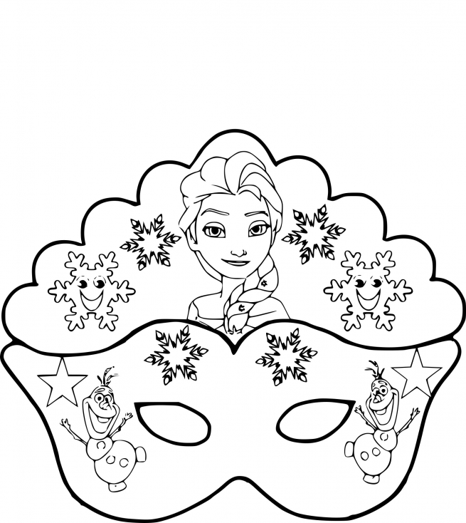 coloriage masque la reine des neiges imprimer sur. Black Bedroom Furniture Sets. Home Design Ideas