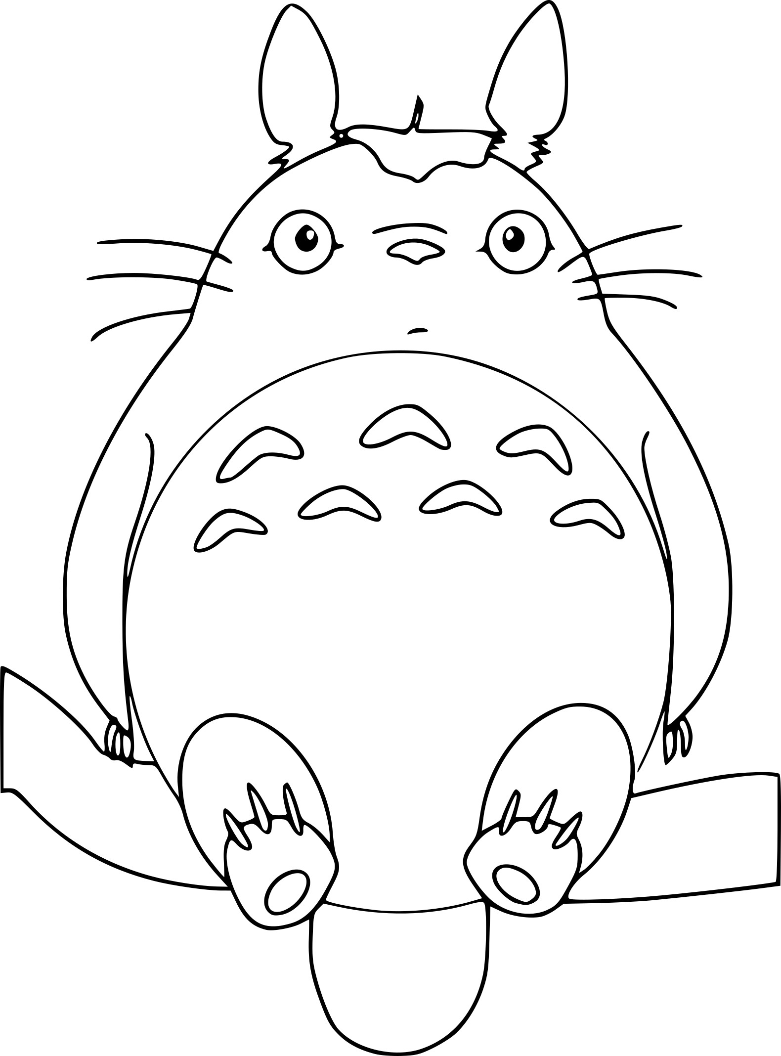 Totoro Coloring Pages Sketch Coloring Page