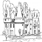 Coloriage Chateau fort dessin