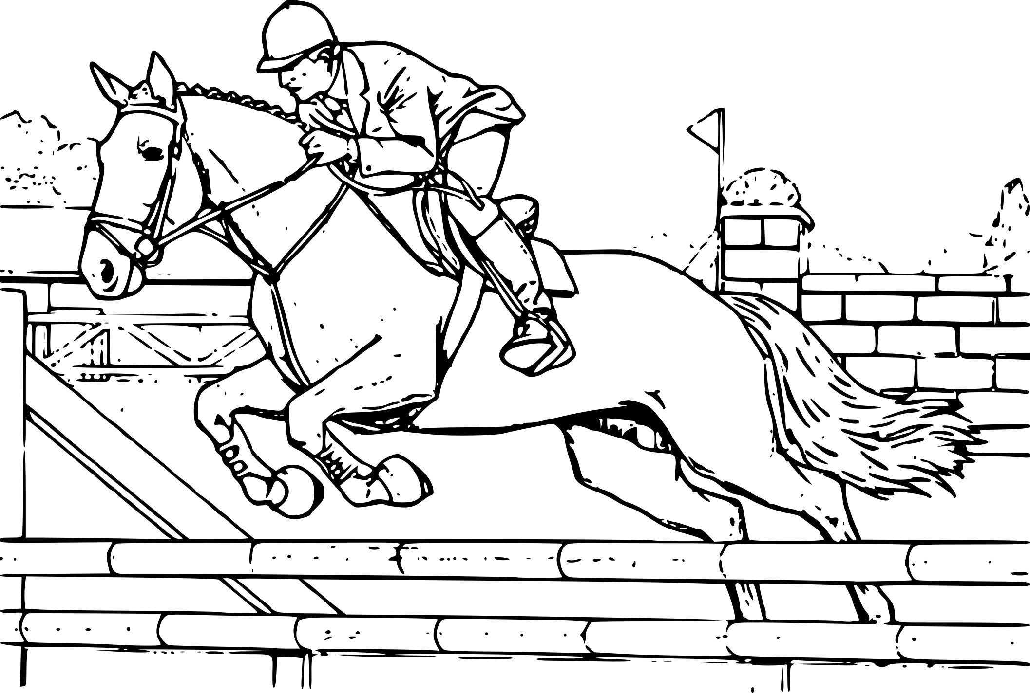 Coloriage cheval grand galop dessin imprimer sur coloriages info - Grand dessin a colorier ...