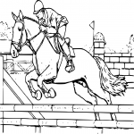 Coloriage Cheval grand galop dessin